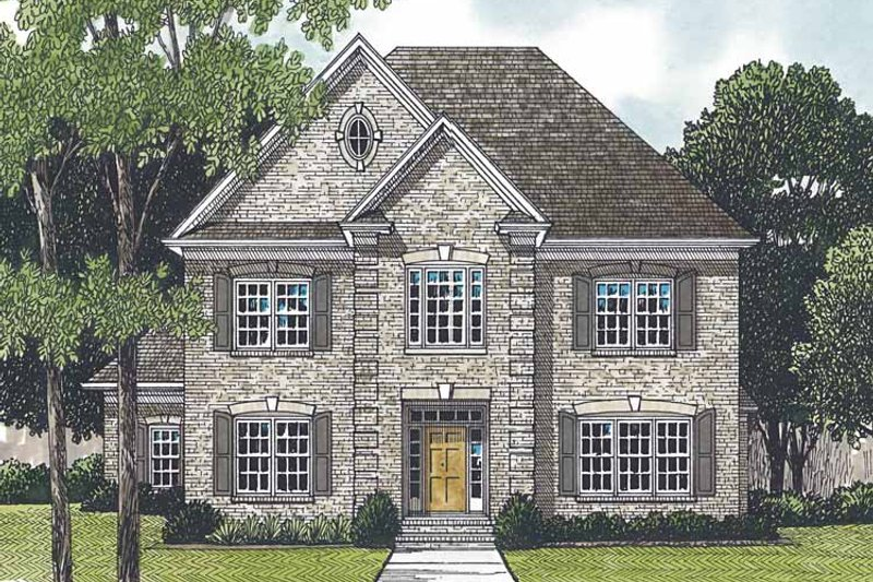 Traditional Exterior - Front Elevation Plan #453-549 - Houseplans.com