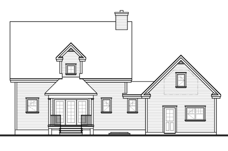 Country Exterior - Rear Elevation Plan #23-2561 - Houseplans.com
