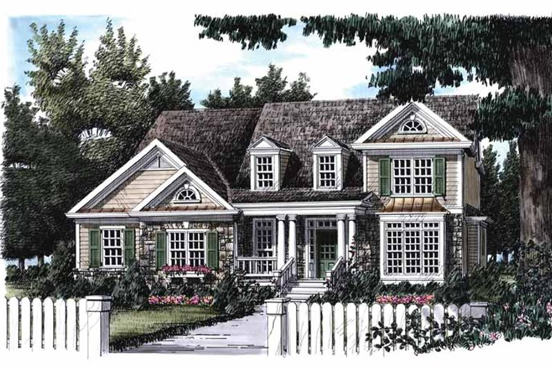 Country Exterior - Front Elevation Plan #927-657