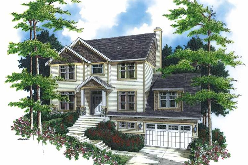 Craftsman Exterior - Front Elevation Plan #48-783 - Houseplans.com