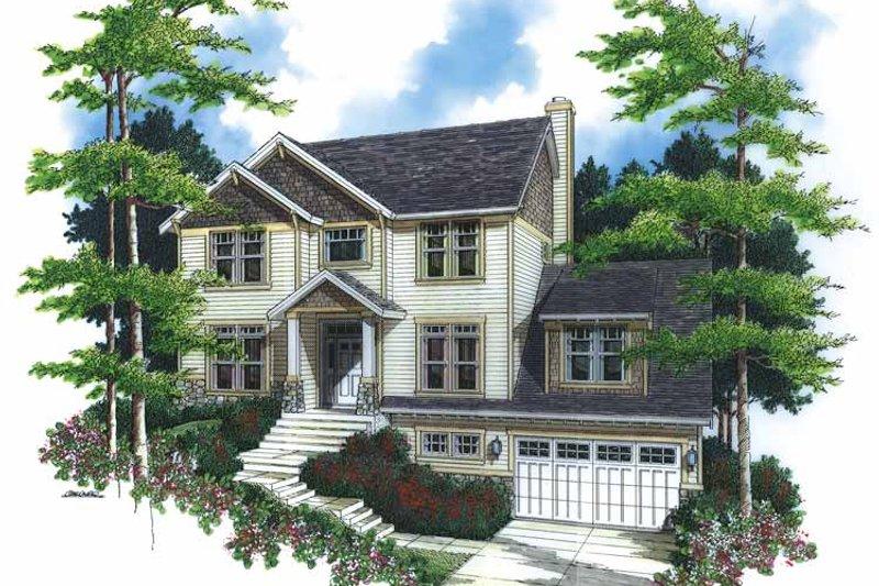 Dream House Plan - Craftsman Exterior - Front Elevation Plan #48-783