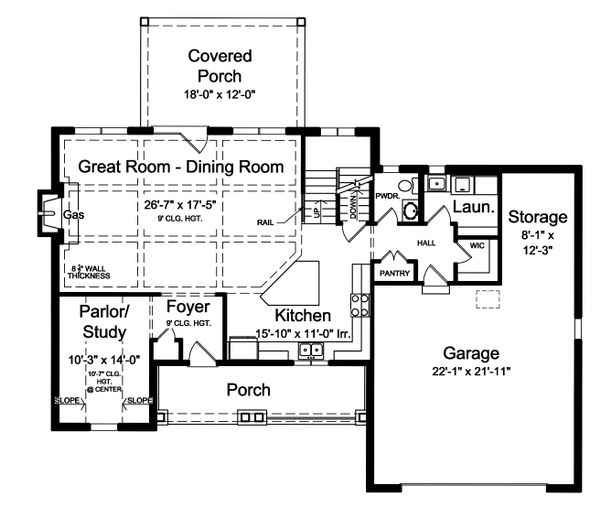 Traditional Floor Plan - Main Floor Plan Plan #46-875