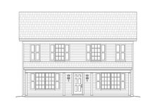 House Plan Design - Traditional Exterior - Front Elevation Plan #932-164