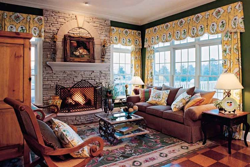 Country Interior - Family Room Plan #927-37 - Houseplans.com