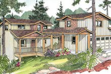 Exterior - Front Elevation Plan #124-626