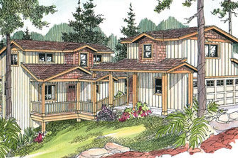 Exterior - Front Elevation Plan #124-626