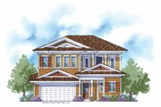Country Style House Plan - 4 Beds 3.5 Baths 3225 Sq/Ft Plan #938-6 Exterior - Front Elevation