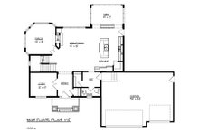 Craftsman Floor Plan - Main Floor Plan Plan #320-491