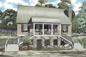Home Plan - Country Exterior - Front Elevation Plan #17-3281