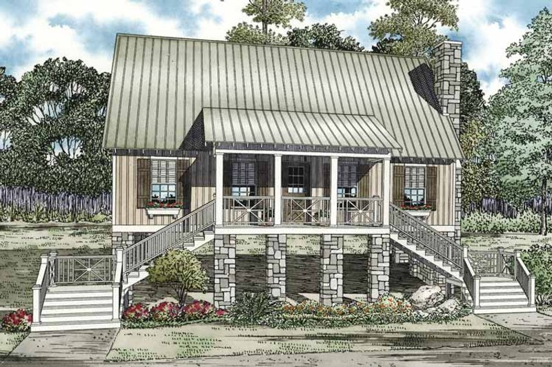 Country Exterior - Front Elevation Plan #17-3281