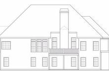 Home Plan - Traditional Exterior - Rear Elevation Plan #419-141