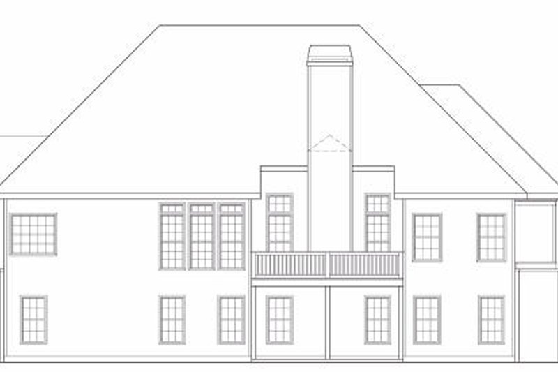 Traditional Exterior - Rear Elevation Plan #419-141 - Houseplans.com