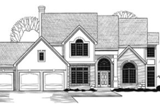 Traditional Exterior - Front Elevation Plan #67-115