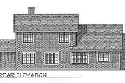 Traditional Style House Plan - 3 Beds 2.5 Baths 2128 Sq/Ft Plan #70-312 Exterior - Rear Elevation