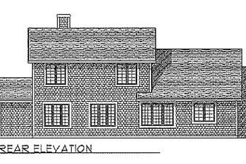 Traditional Exterior - Rear Elevation Plan #70-312 - Houseplans.com