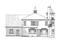 Victorian Exterior - Rear Elevation Plan #137-249