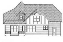 Craftsman Exterior - Rear Elevation Plan #413-102