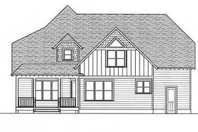 Craftsman Exterior - Rear Elevation Plan #413-102 - Houseplans.com