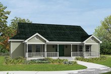 Dream House Plan - Ranch Exterior - Front Elevation Plan #57-238