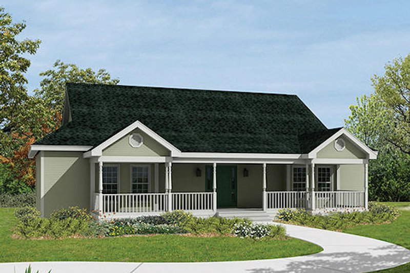 Ranch Exterior - Front Elevation Plan #57-238