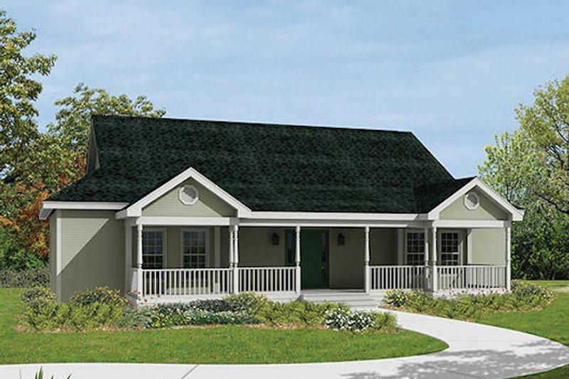 Ranch Exterior - Front Elevation Plan #57-238 - Houseplans.com