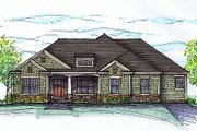 Traditional Style House Plan - 3 Beds 2 Baths 2000 Sq/Ft Plan #459-2 Exterior - Other Elevation