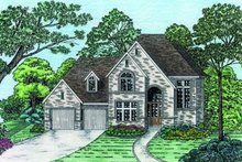 Dream House Plan - European Exterior - Front Elevation Plan #20-685