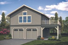 House Plan Design - Craftsman Exterior - Front Elevation Plan #124-1133