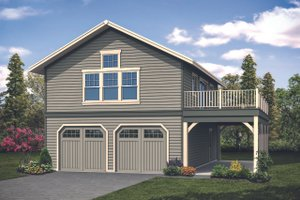 Craftsman Exterior - Front Elevation Plan #124-1133