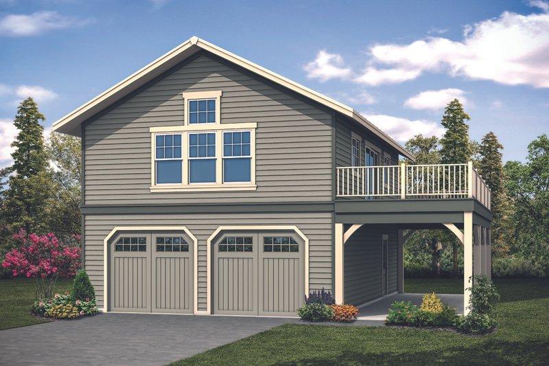 Home Plan - Craftsman Exterior - Front Elevation Plan #124-1133