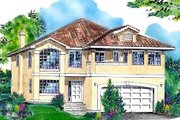 European Style House Plan - 5 Beds 3 Baths 2732 Sq/Ft Plan #18-9317 Exterior - Front Elevation