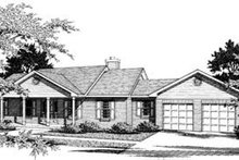 Ranch Exterior - Front Elevation Plan #57-114