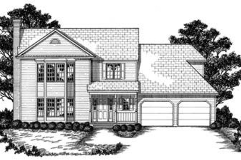 Traditional Exterior - Front Elevation Plan #36-258 - Houseplans.com