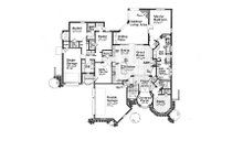 European Floor Plan - Main Floor Plan Plan #310-707