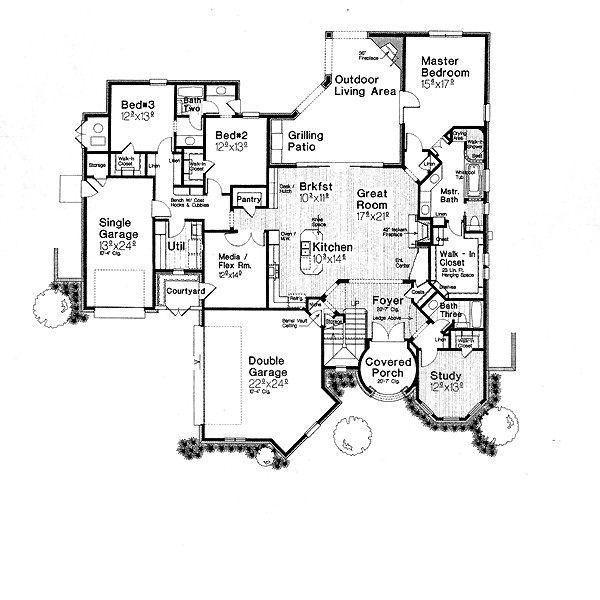 European Floor Plan - Main Floor Plan #310-707