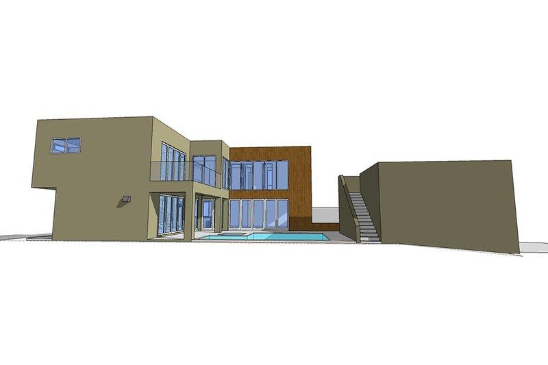 Side elevation - 2600 square foot Modern home