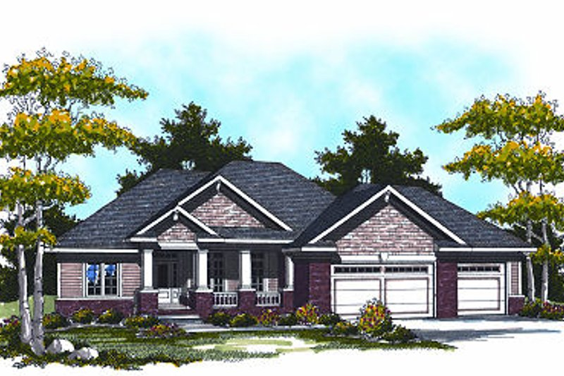 Traditional Exterior - Front Elevation Plan #70-862