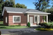 Ranch Style House Plan - 1 Beds 1 Baths 896 Sq/Ft Plan #1-771 Exterior - Front Elevation