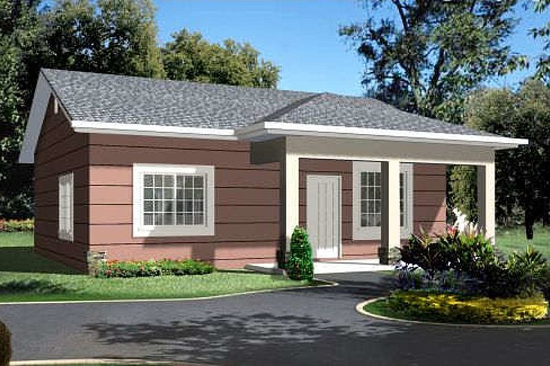 Ranch Exterior - Front Elevation Plan #1-771