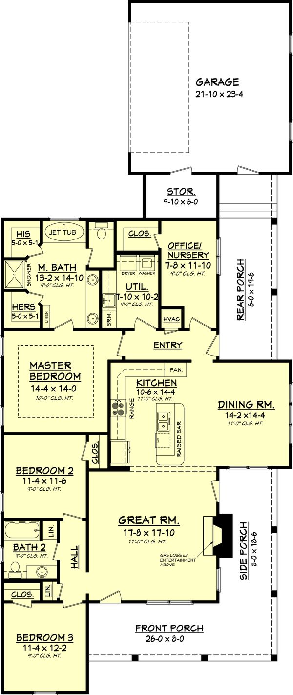 Country Floor Plan - Main Floor Plan Plan #430-56