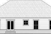 Country Style House Plan - 3 Beds 2 Baths 1416 Sq/Ft Plan #21-463 Exterior - Rear Elevation