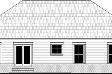 House Plan Design - Country Exterior - Rear Elevation Plan #21-463