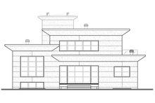 Rear View - 3200 square foot Modern Home