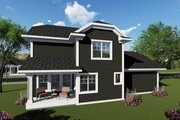 Craftsman Style House Plan - 3 Beds 2.5 Baths 1413 Sq/Ft Plan #70-1411 Exterior - Rear Elevation