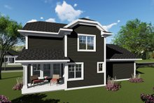 Craftsman Exterior - Rear Elevation Plan #70-1411