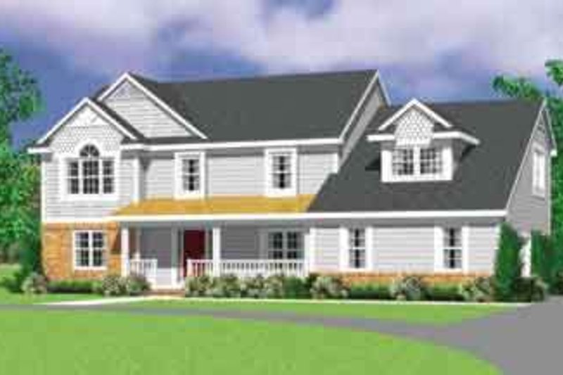 Traditional Exterior - Front Elevation Plan #72-479 - Houseplans.com