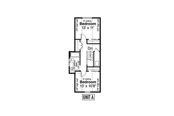 Cottage Floor Plan - Upper Floor Plan Plan #124-1080