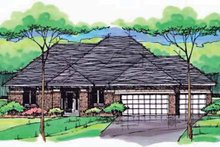 Country Exterior - Front Elevation Plan #51-999