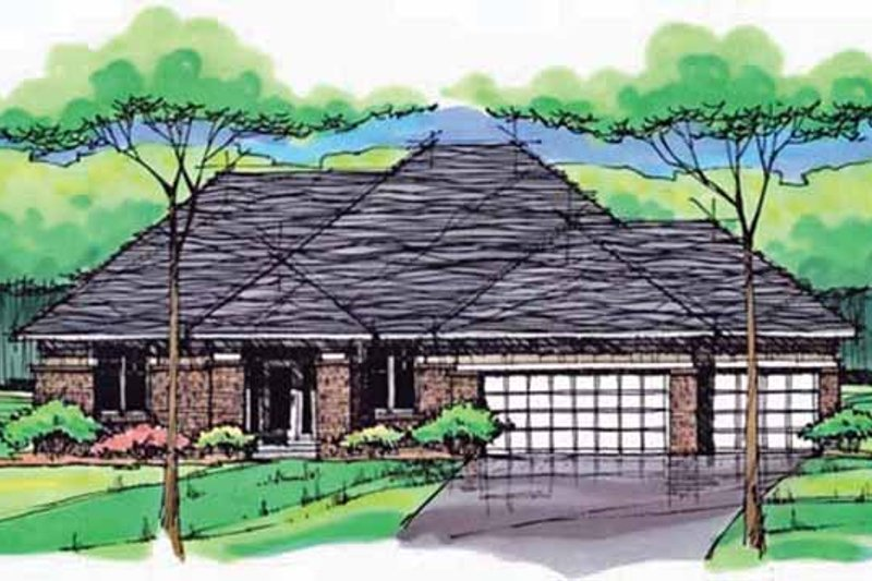 Dream House Plan - Country Exterior - Front Elevation Plan #51-999