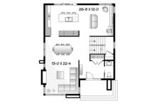 Contemporary Floor Plan - Main Floor Plan Plan #23-2554